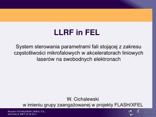 LLRF in FEL