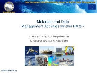 Metadata and Data  Management Activities winthin NA 3-7