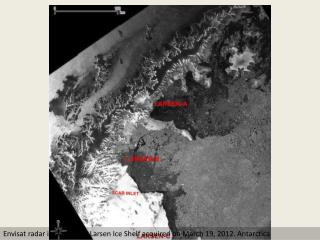 Satellite captures thinning ice shelf