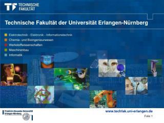 Technische Fakult�t der Universit�t Erlangen-N�rnberg