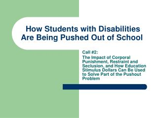How Students with Disabilities Are Being Pushed Out of School