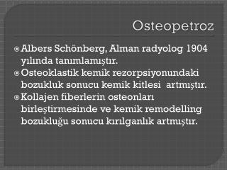 Osteopetroz