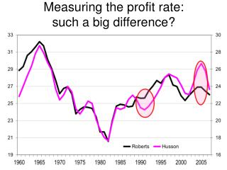 Measuring the profit rate: such a big difference?