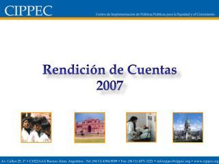 Rendición de Cuentas 2007