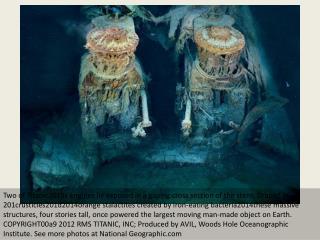 Amazing underwater images of Titanic