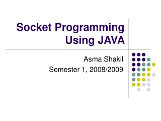Socket Programming Using JAVA