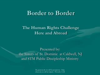 Border to Border The Human Rights Challenge Here and Abroad