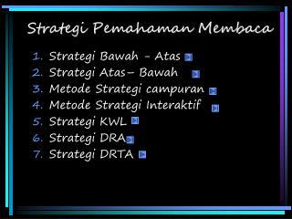 Strategi Pemahaman Membaca