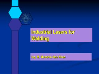 Industrial Lasers for Welding