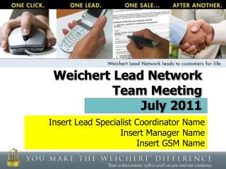 Weichert Lead Network  Team Meeting July 2011