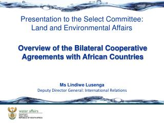 Overview of the Bilateral Cooperative Agreements with African Countries