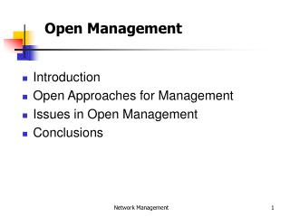Open Management