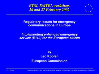 ETSI, EMTEL workshop,  26 and 27 February 2002