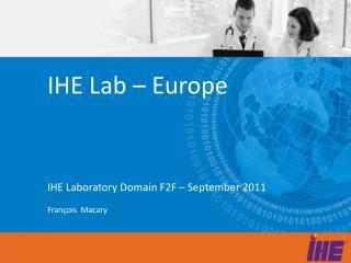 IHE Lab – Europe