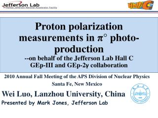 Proton polarization measurements in π° photo-production  --on behalf of the Jefferson Lab Hall C