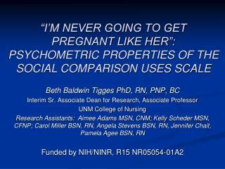 Beth Baldwin  Tigges  PhD, RN, PNP, BC