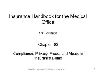 Chapter  02 Compliance, Privacy, Fraud, and Abuse in Insurance Billing