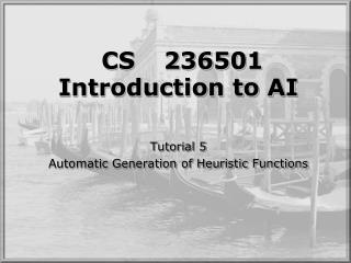 CS	236501 Introduction to AI