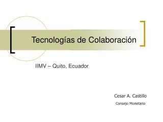 Tecnologías de Colaboración