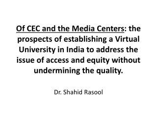 Dr. Shahid Rasool