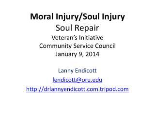 Lanny  Endicott lendicott@oru drlannyendicott.tripod