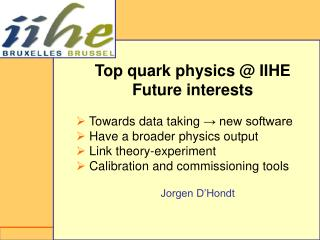 Top quark physics @ IIHE Future interests