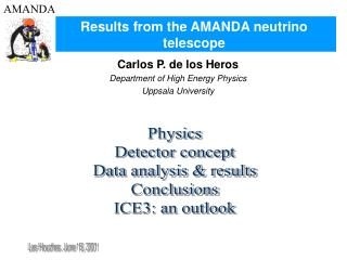 Results from the AMANDA neutrino telescope