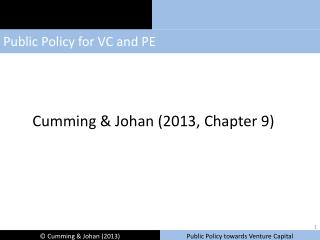 Public  Policy for VC and PE