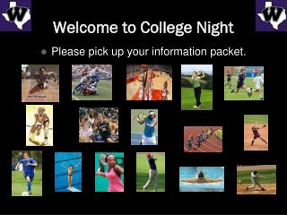 Welcome to College Night