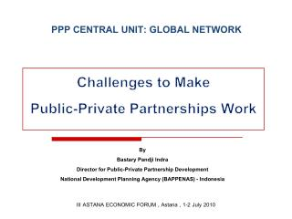 PPP CENTRAL UNIT: GLOBAL NETWORK
