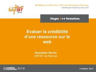 Evaluer la crédibilité d'une ressource sur le web