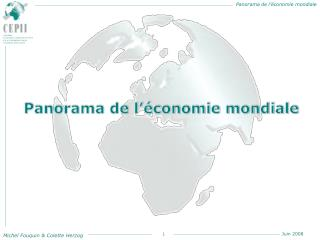 Panorama de l  conomie mondiale