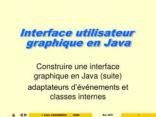 Interface utilisateur  graphique en Java