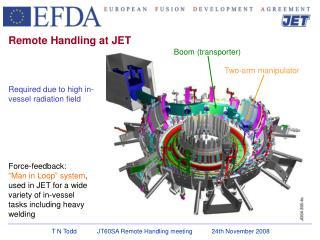 Remote Handling at JET