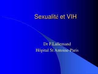 Sexualit é  et VIH