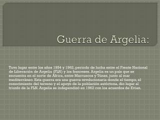 Guerra de Argelia: