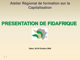 Atelier Régional de formation sur la Capitalisation