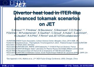 Divertor heat load in ITER-like advanced tokamak scenarios on JET