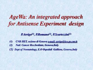 AgeWa: An integrated approach for Antisense Experiment  design