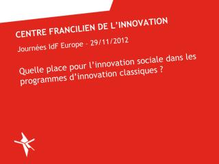 Centre francilien de l'innovation