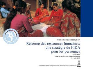 R�forme des ressources humaines:  une strat�gie du FIDA  pour les personnes
