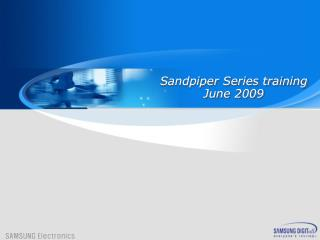 Sandpiper Series training June  2009
