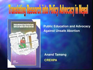 Translating Research into Policy Advocacy in Nepal