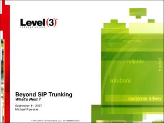 Beyond SIP Trunking What�s Next ?