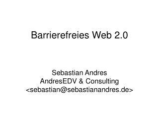 Barrierefreies Web 2.0