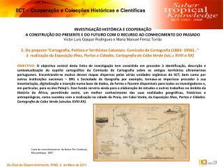 INVESTIGAÇÃO  HISTÓRICA E COOPERAÇÃO