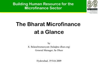 Building Human Resource for the Microfinance Sector