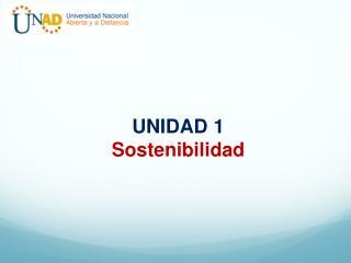 UNIDAD  1 Sostenibilidad
