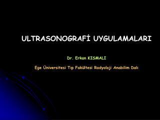 ULTRASONOGRAFİ UYGULAMALARI Dr. Erkan KISMALI