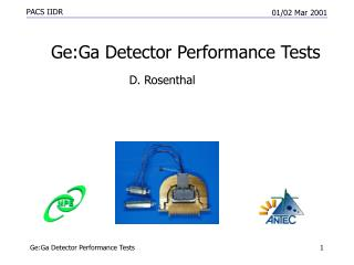 Ge:Ga Detector Performance Tests
